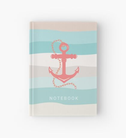 AFE Coral Anchor Nautical Hardcover Journal