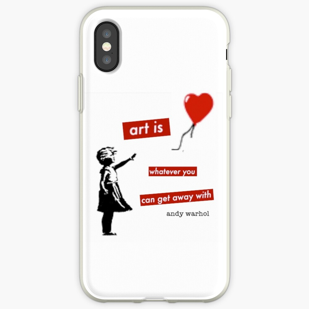 Girl with a red balloon - urban art pop culture - life quote iPhone Case & Cover