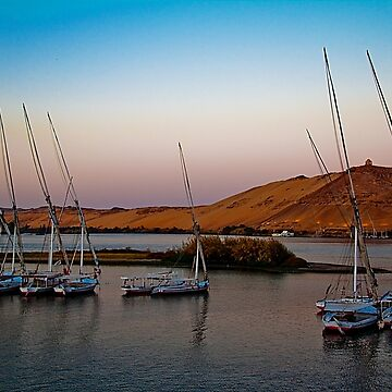 Egypt. Nile. Sunrise. Near Aswan. by vadim19