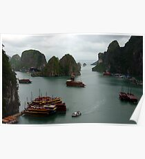 Halong Bay Junks Poster