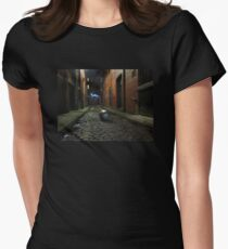 The Party Is Over street scene Women's Fitted T-Shirt