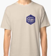 rLAB distressed navy logo Classic T-Shirt