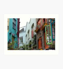 The colourful houses of Neil's Yard, London Art Print