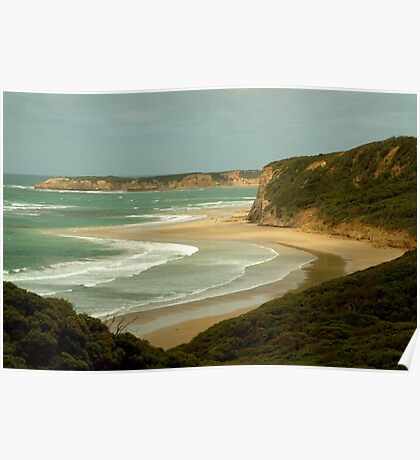 South Side of Bells Beach Poster