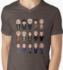 The Fifteen Doctors Men's V-Neck T-Shirt