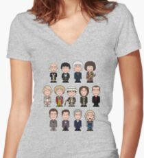 The Thirteen Doctors Women's Fitted V-Neck T-Shirt