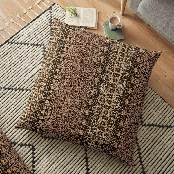 Indonesian batik by Hypersphere Floor Pillow