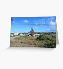 a historic Antigua and Barbuda landscape Greeting Card