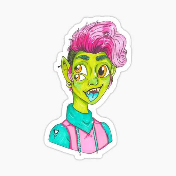 troll kid Sticker