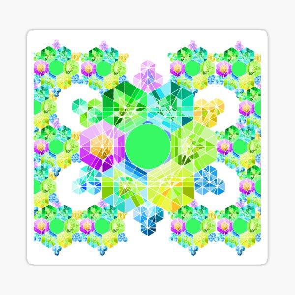 Crystal d'Eau Amour et Gratitude Rainbow Sticker