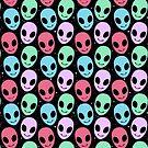 cute pastel alien - space by EllenorMererid
