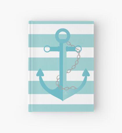 AFE Nautical Aqua Ship Anchor Hardcover Journal