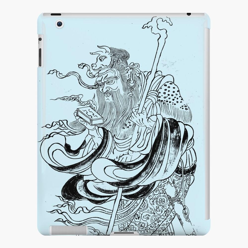 Medieval Fantasy Wizard Saturn Asia Outline Art  iPad Case & Skin