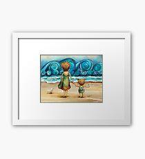 Beachcombers Framed Print