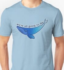 Existentiwhale: Inevitable Death Slim Fit T-Shirt