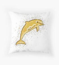 Cojín de suelo Dolphin sea life golden Gold
