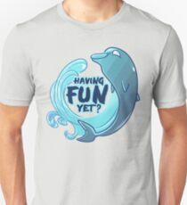 Existentiwhale: Having Fun? Slim Fit T-Shirt
