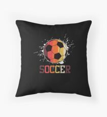Soccer Retro Athlete Football Sports Team Athletic Player Gifts Throw Pillow