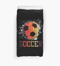 Soccer Retro Athlete Football Sports Team Athletic Player Gifts Duvet Cover