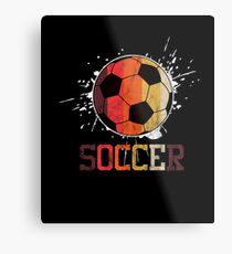 Soccer Retro Athlete Football Sports Team Athletic Player Gifts Metal Print