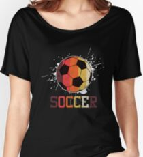 Soccer Retro Athlete Football Sports Team Athletic Player Gifts Women's Relaxed Fit T-Shirt
