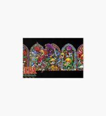 Lámina de exposición La leyenda de Zelda- Cuatro espadas