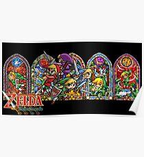 Póster La leyenda de Zelda- Cuatro espadas