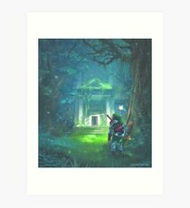The Forest Temple Art Print