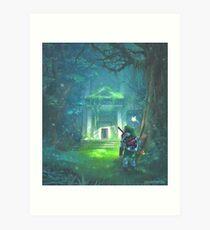 Der Wald Tempel Kunstdruck