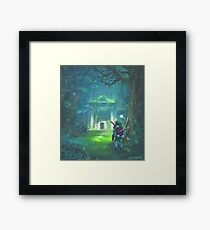The Forest Temple Framed Print