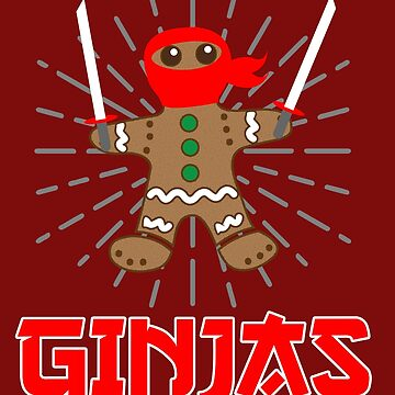 Ginjas Gingerbread Christmas T shirt by 3familyllc
