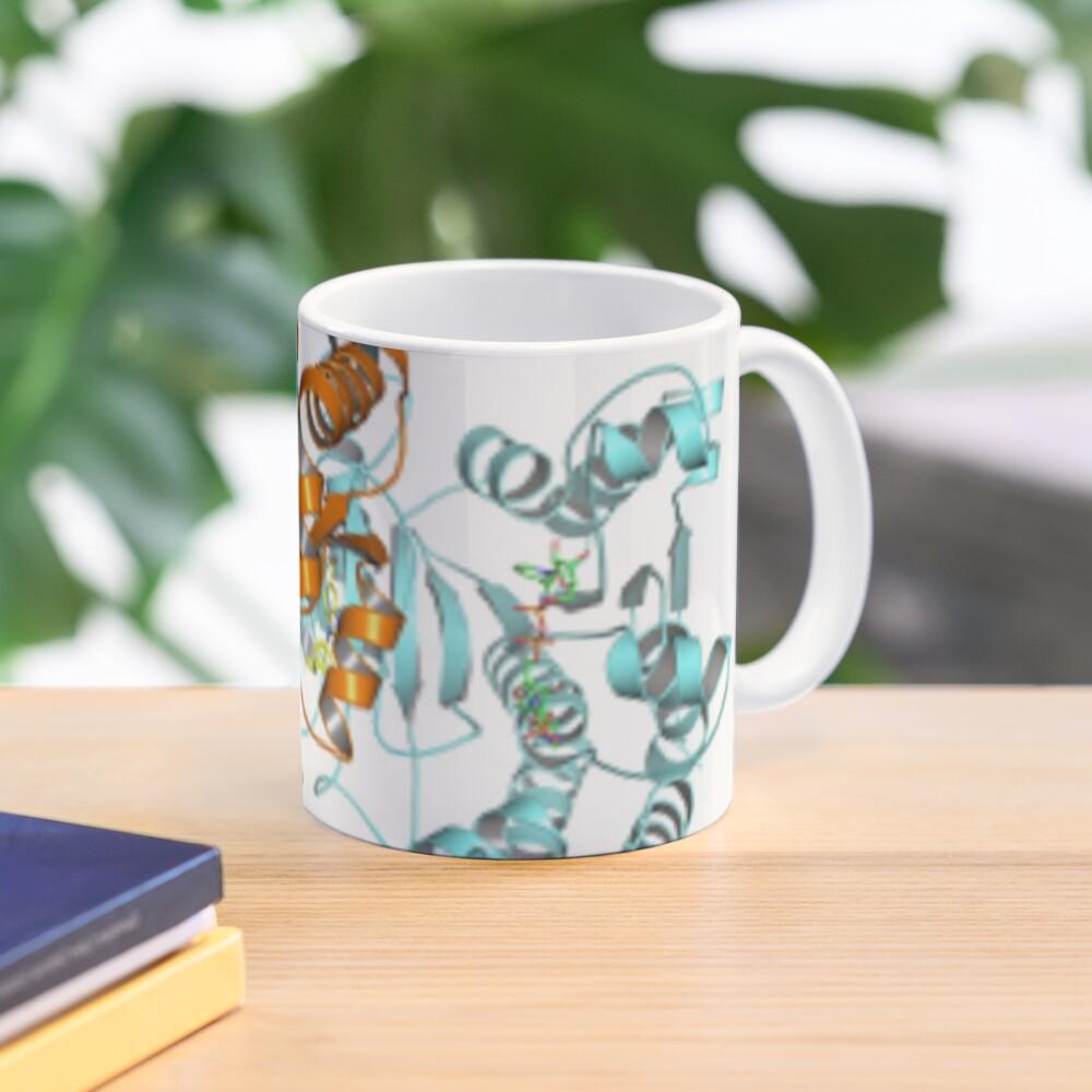#Enzyme #Informatics, #EnzymeInformatics, particle #chemistry medicine biology science biochemistry shape chemical Mug