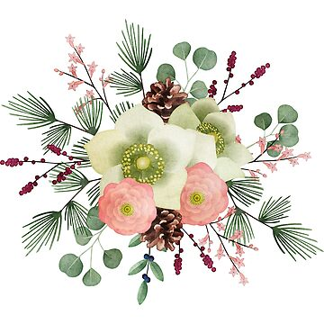 Elegant Christmas flowers bouquet by artonwear