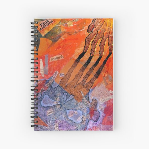 Titus Andronicus poster Spiral Notebook