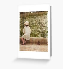 Parisian girl Greeting Card