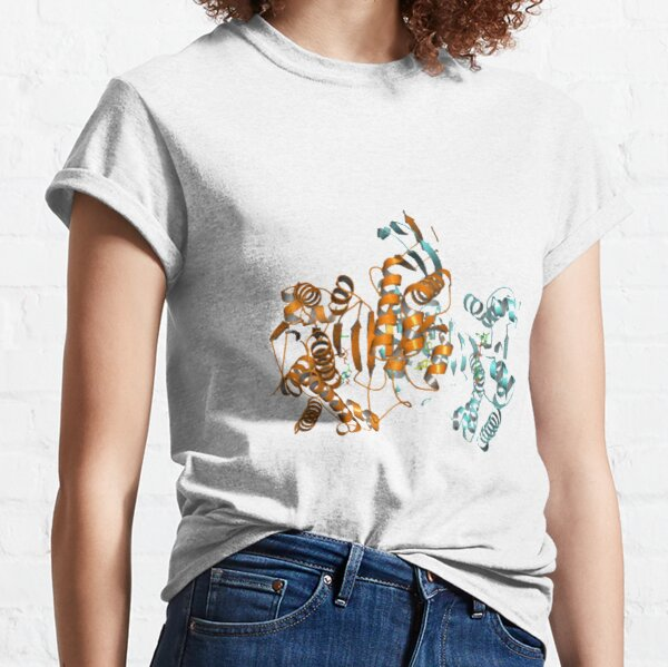 #Enzyme #Informatics, #EnzymeInformatics, #particle #chemistry #medicine #biology #science #biochemistry #shape #chemical #illustration #acid #connection #design #symbol #molecular #insect #horizontal Classic T-Shirt