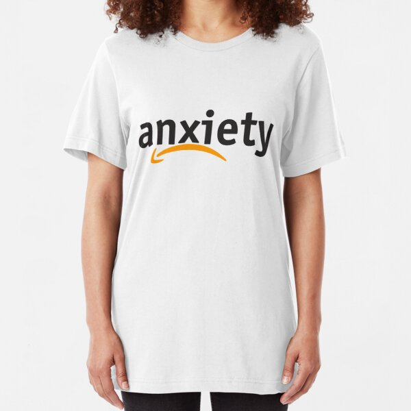Anxiety Amazon Logo Slim Fit T-Shirt