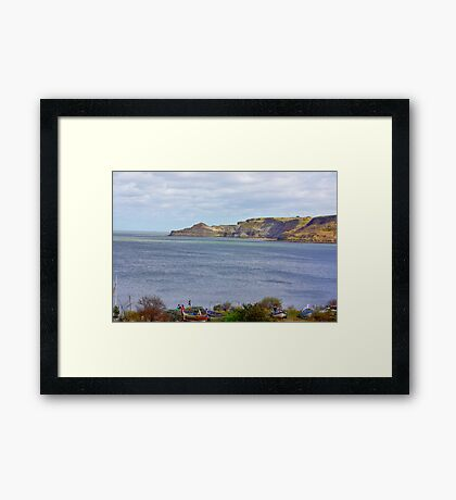 Runswick Bay Framed Print