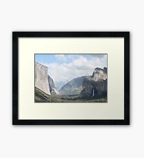 infamous tunnel view in Yosemite Framed Print