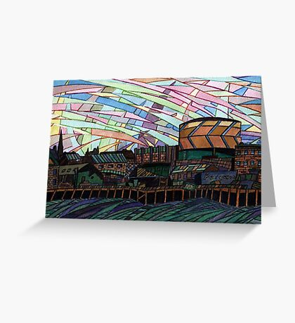 150 - BLYTH RIVERSIDE VIEW - DAVE EDWARDS - WATERCOLOUR & INK - 2005 Greeting Card
