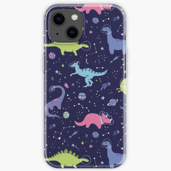 Space Dinosaurs in a Purple Sky iPhone Soft Case