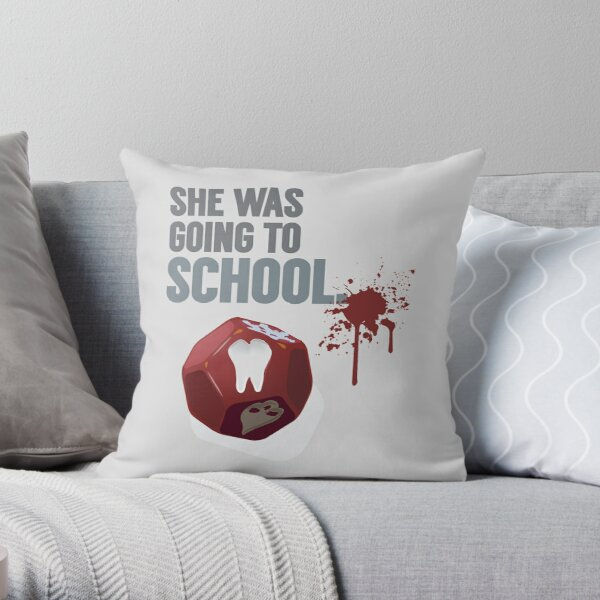Death at School Throw Pillow