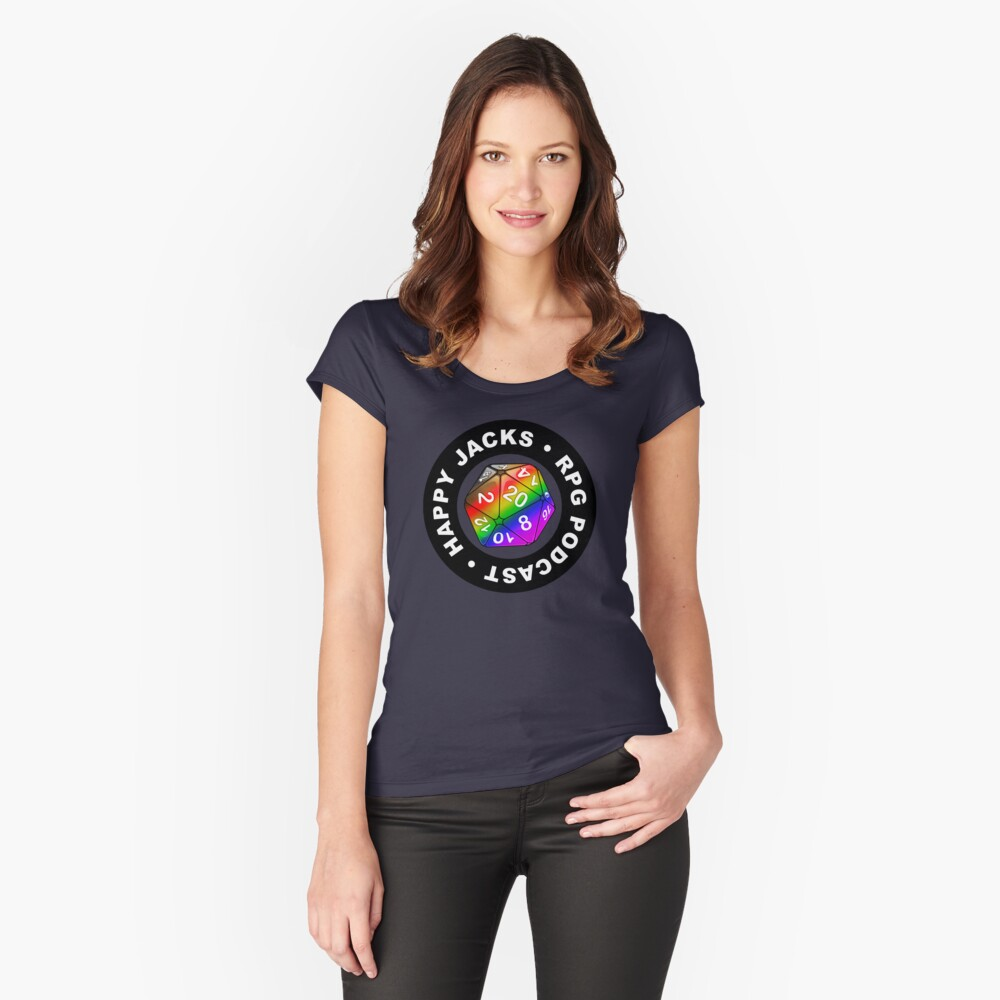 Happy Jacks Rainbow Logo Fitted Scoop T-Shirt