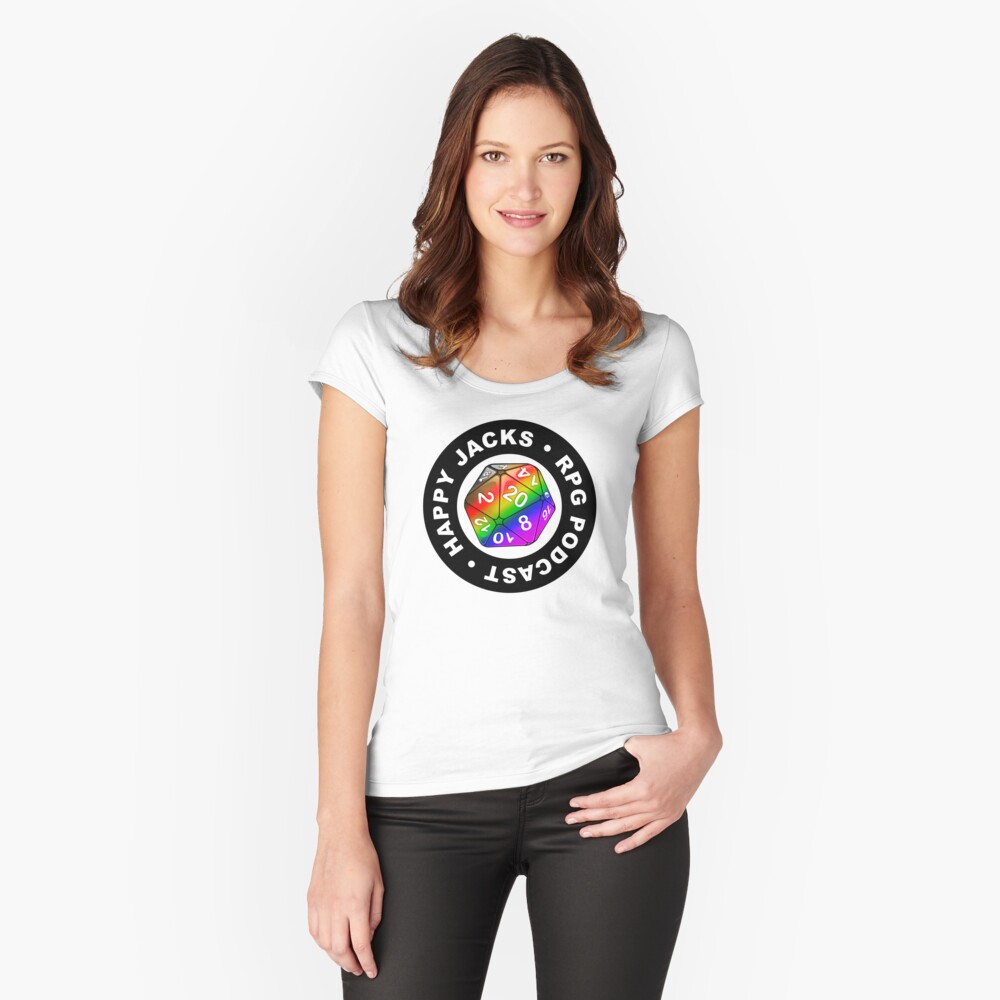 Happy Jacks Rainbow Logo Women's Fitted Scoop T-Shirt Front