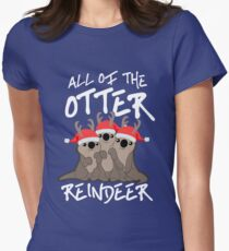 All of the Otter Reindeer Women's Fitted T-Shirt