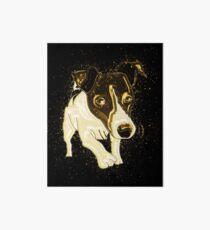 Dog funny golden Gold Art Board