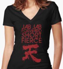 Raging Demon 2 Women's Fitted V-Neck T-Shirt