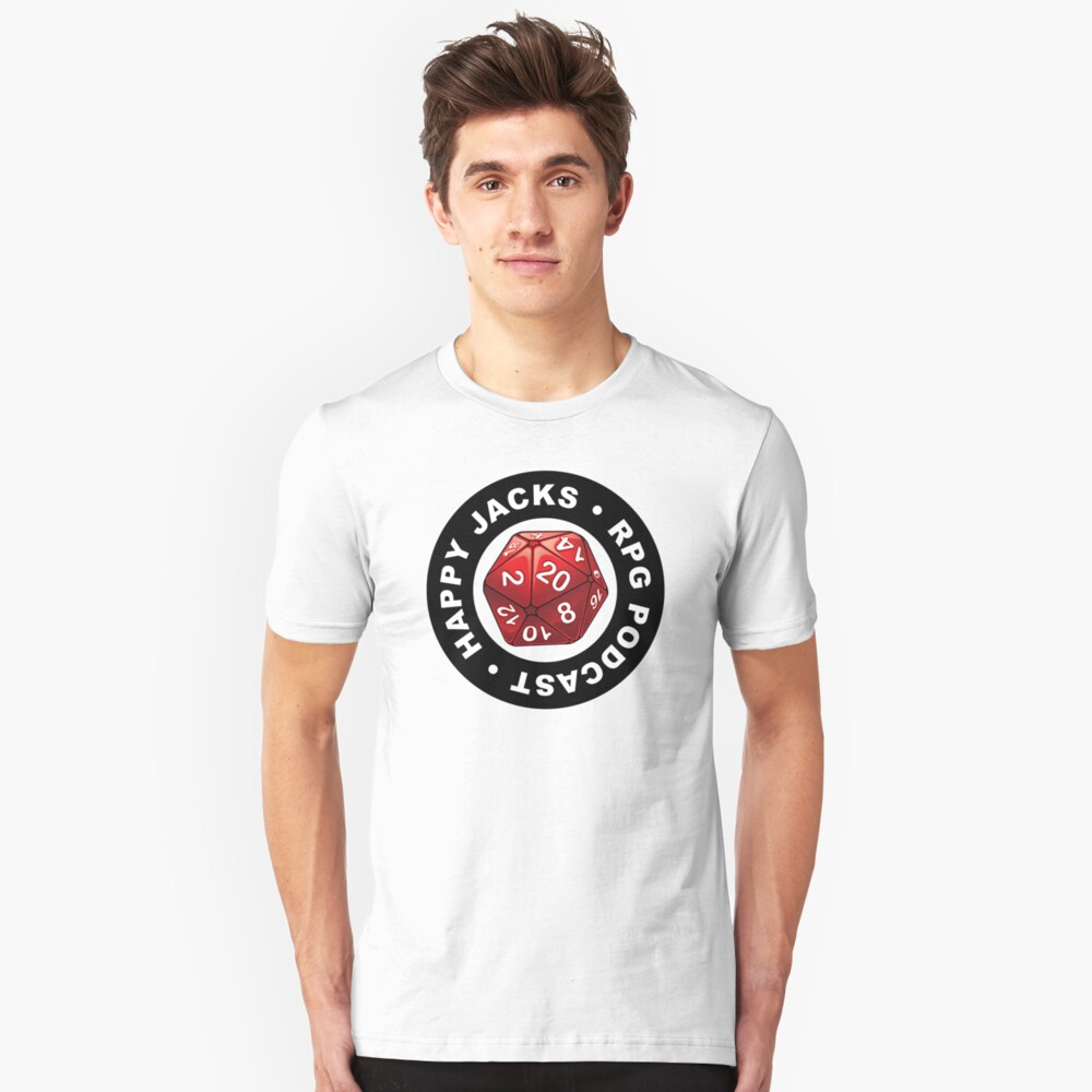 Happy Jacks RPG Logo Slim Fit T-Shirt