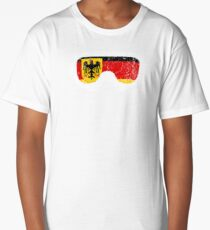 German Goggles White Frame Distressed | Goggle Designs | DopeyArt Long T-Shirt