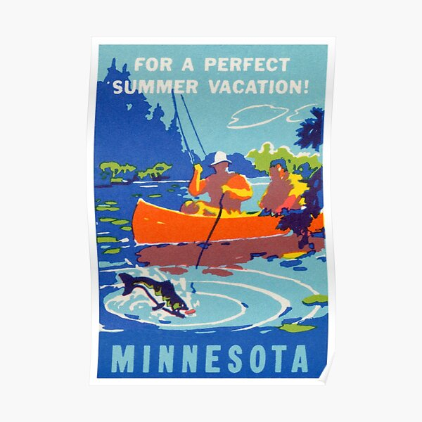 1940 Vacation in Minnesota Poster